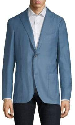 Boglioli Sky Blue Wool Twill Jacket
