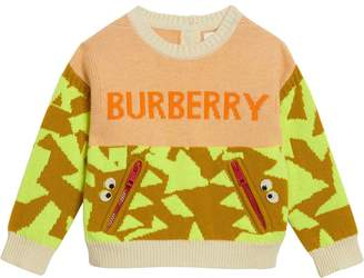 Burberry TEEN monster intarsia knit sweater