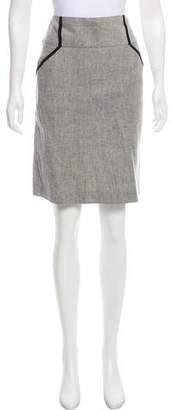 Mason Pleat-Accented Linen-Blend Skirt