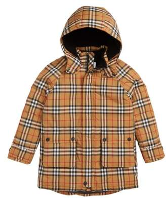 Burberry Check Waterproof Down Puffer Jacket