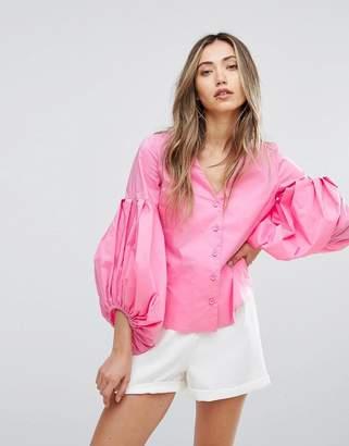 Pearl Baloon Sleeve Shirt
