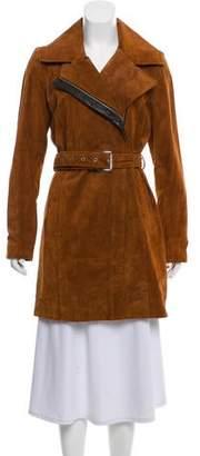 Andrew Marc Suede Mini Coat