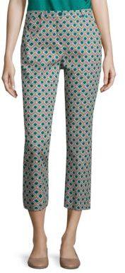 Max MaraWeekend Max Mara Vadet Diamond Printed Cropped Pants