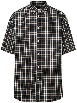 Undercover checked shortsleeved shirt