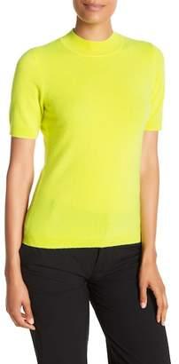Diane von Furstenberg Short Sleeve Mock Neck Cashmere Pullover