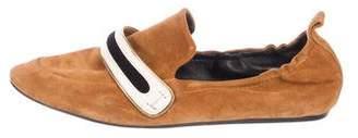 Lanvin Suede Round-Toe Flats