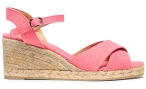 Castaner Blaudell Canvas Espadrille Wedge Sandals