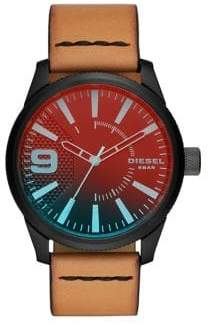 Diesel Rasp NSBB Leather Strap Watch