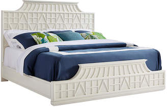 One Kings Lane Amistad Fretwork Panel Bed - White