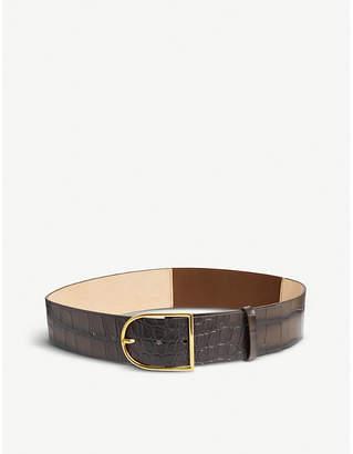 356fae41532a Max Mara Crocodile-print leather belt