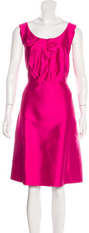 Kate Spade Kate Spade New York Bow-Accented Silk Dress