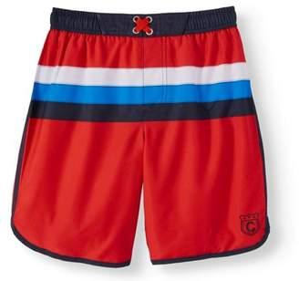 Cherokee Boys' Stripe Swim Trunks