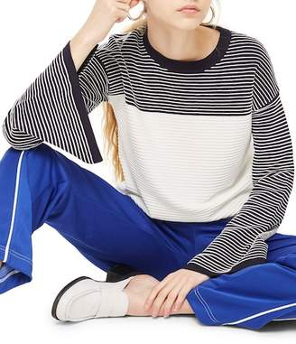 Topshop Ottoman Reverse Stripe Sweater