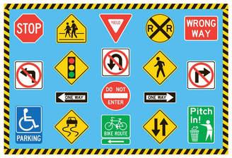 Fun Rugs Fun Time Traffic Signs Kids Rug Rug