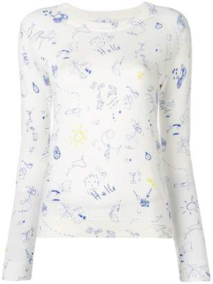 Paul Smith doodle print sweater