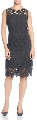 T Tahari Sleeveless Cotton Lace Dress