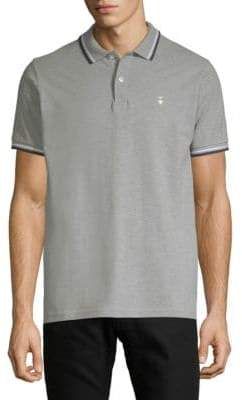 Knowledge Cotton Apparel Contrast-Trimmed Cotton Pique Polo