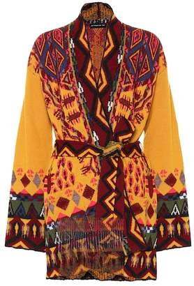 Etro Intarsia wool-blend cardigan
