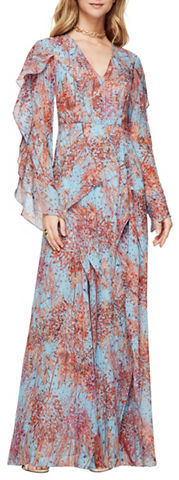 BCBGMAXAZRIABcbgmaxazria Kalen Silk Chiffon Floral-Print Dress