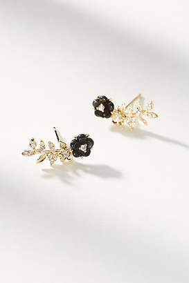 Anthropologie Beatrix Floral Climber Earrings