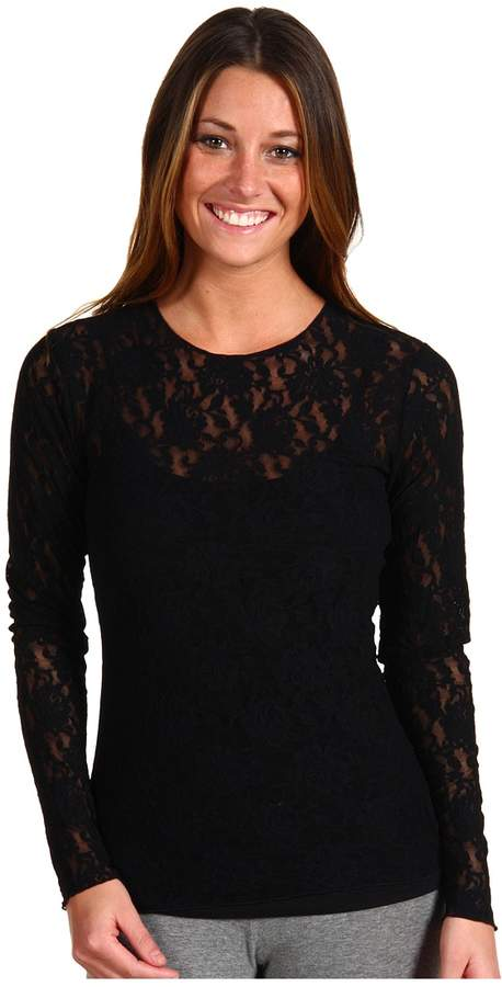 Hanky Panky Signature Lace Unlined Long Sleeve Top Women's Lingerie