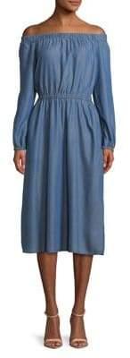 MICHAEL Michael Kors Off-Shoulder Elastic-Trim Dress