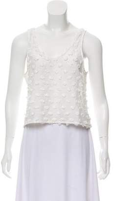 Creatures of Comfort Sleeveless Embellished Top
