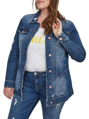 Junarose Plus Distressed Denim Jacket