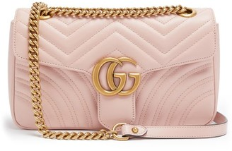 5ad4369d68db Gucci Gg Marmont Small Quilted Leather Shoulder Bag - Womens - Light Pink