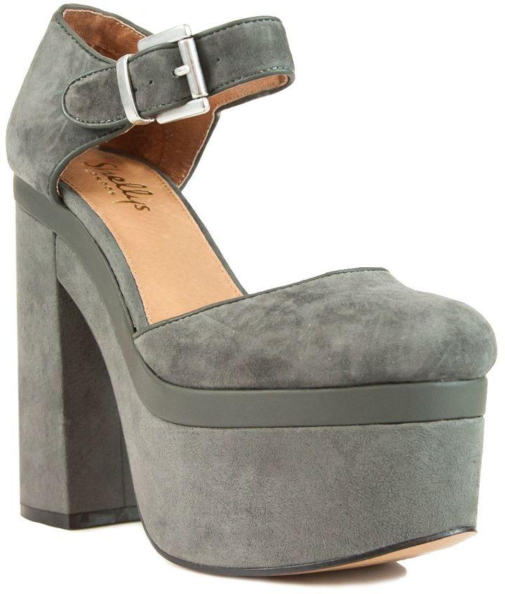 Grey Platform Heels - ShopStyle Australia
