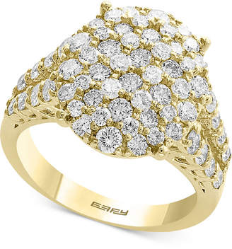 Effy D'Oro by Diamond Cluster Statement Ring (2-1/10 ct. t.w.) in 14k Yellow, White and Rose Gold