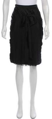 Alberta Ferretti Ruched Knee-Length Skirt