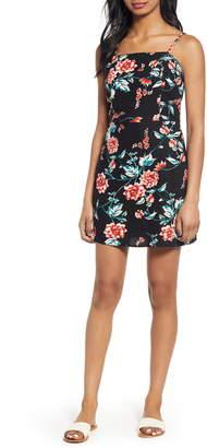 BP Floral Print Linen Blend Minidress