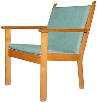 One Kings Lane Vintage Hans J. Wegner Oak Lounge Chair