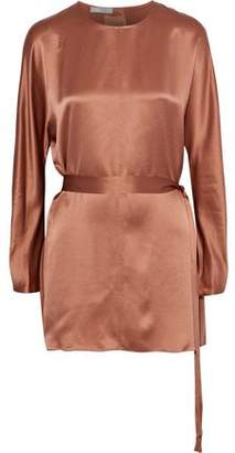 Vince Belted Silk-Satin Tunic