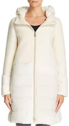 Herno Nuage Lightweight Mixed Media Down Coat