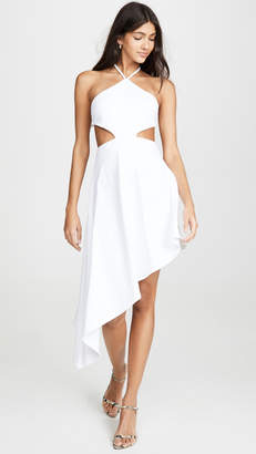 Susana Monaco Asymmetrical Cutout Halter Dress