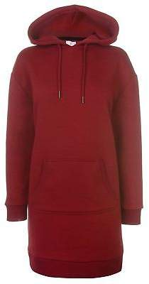 Soul Cal SoulCal Womens Deluxe Hoodie Dress OTH Hoody Hooded Top Kangaroo Pocket Jersey