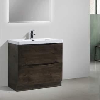"""Wrought Studio Ruelas Free Standing Modern 36"""" Single Bathroom Vanity Set Base"""