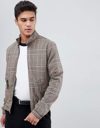 New Look harrington jacket in brown check