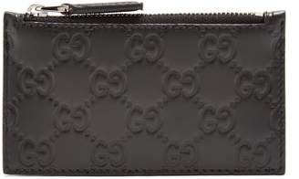 Gucci Gg Leather Cardholder - Mens - Black