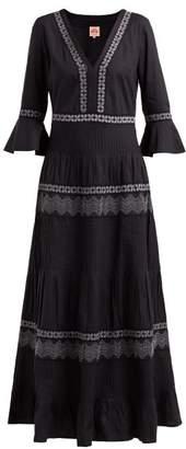 Le Sirenuse Le Sirenuse, Positano - Bella Embroidered Cotton Dress - Womens - Black Multi