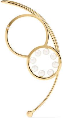 Delfina Delettrez 18-karat Gold, Pearl And Diamond Earring