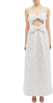 Zimmermann 'Corsage' cutout bow front guipure lace sleeveless dress