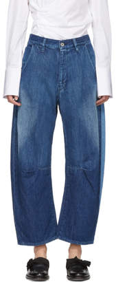Y's Ys Blue U-Wide Gusset Jeans