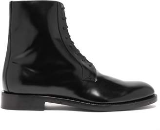 Vetements Leather Lace Up Ankle Boots - Womens - Black