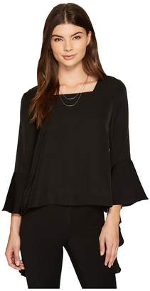 J.o.a. Ruffle Sleeve Top Women's Long Sleeve Pullover