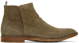 Officine Creative Taupe Standard 19 Chelsea Boots