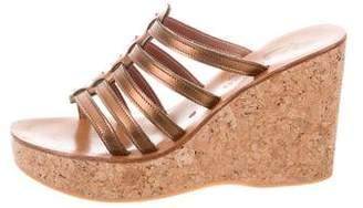 K Jacques St Tropez Metallic Slide Sandals
