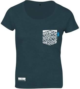 ANCHOR & CREW - Steel Blue Organic Cotton Digit Print T-Shirt (Womens)